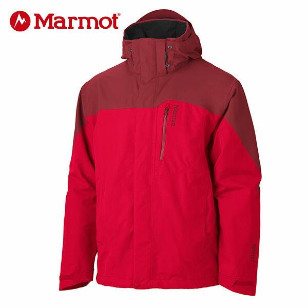 Marmot 男 GORE-TEX │防水│防風│透氣│刷毛│雪衣30420『紅/磚紅』加贈休閒包+隨身包