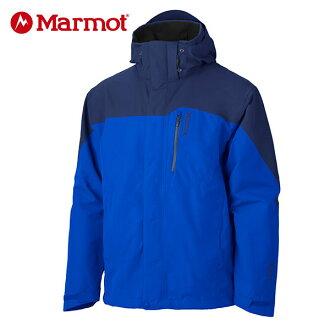 Marmot 男GORE-TEX │防水│防風│透氣│刷毛│雪衣30420『亮藍/深藍』贈休閒包+隨身包