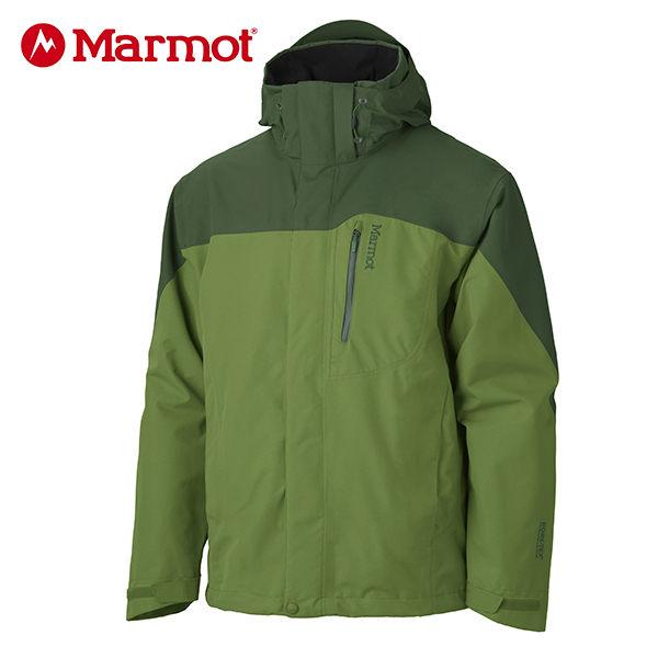 Marmot 男GORE-TEX │防水│防風│透氣│刷毛│雪衣30420『青椒/深綠』