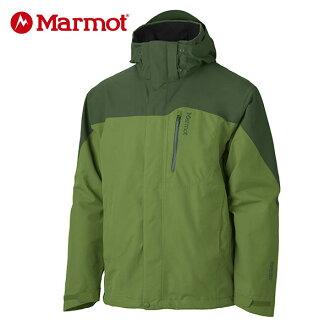 Marmot 男GORE-TEX │防水│防風│透氣│刷毛│雪衣30420『青椒/深綠』贈休閒包+隨身包