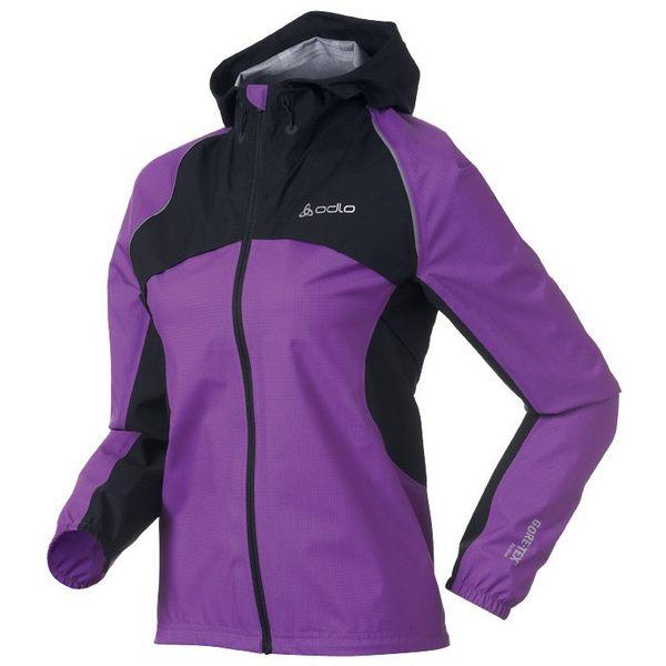 【桃源戶外】Odlo─女 GORE-TEX 防水透氣超輕單件式外套 346901 『紫/黑』