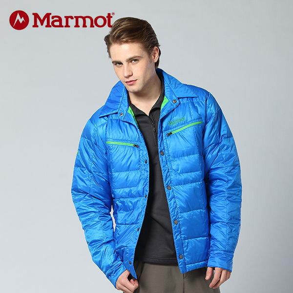 【桃源戶外】Marmot 男防風│保暖│襯衫造型│羽絨外套 70630 『亮藍』