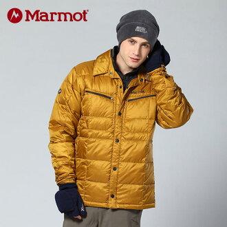 【桃源戶外】Marmot 男防風│保暖│襯衫造型│羽絨外套 70630 『黃銅』