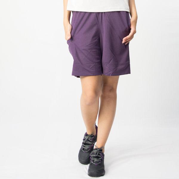 【桃源戶外】Wildland─91663女透氣抗UV排和短褲『深紫色』