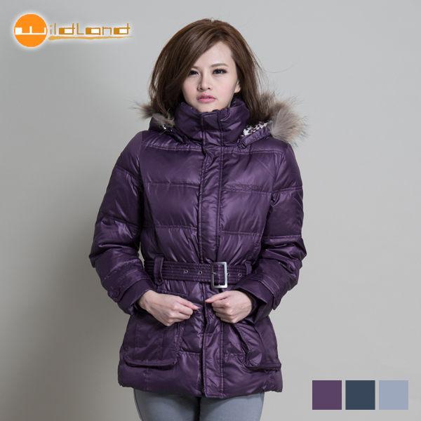 【桃源戶外】荒野Wildland 羽絨外套│防風│保暖│防潑水│時尚女外套 92109『葡萄紫』