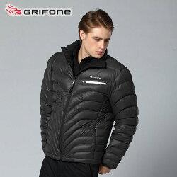 【桃源戶外】Grifone 男  防風│鵝絨│保暖│wind stopper│羽絨外套  A3E005『黑』