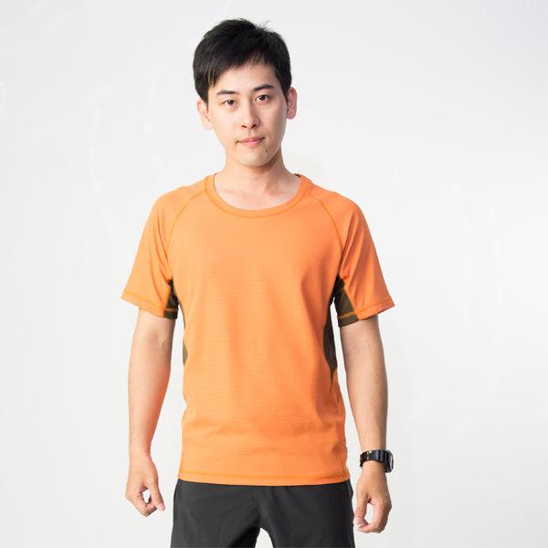 【桃源戶外】Litume─CP382男排汗休閒T恤『深桔/咖啡』