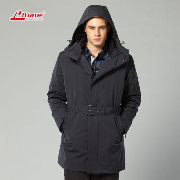 【桃源戶外】  嘉偉Litume 防水外套│防風│羽絨│男兩件式雪衣 F3162『深藍』