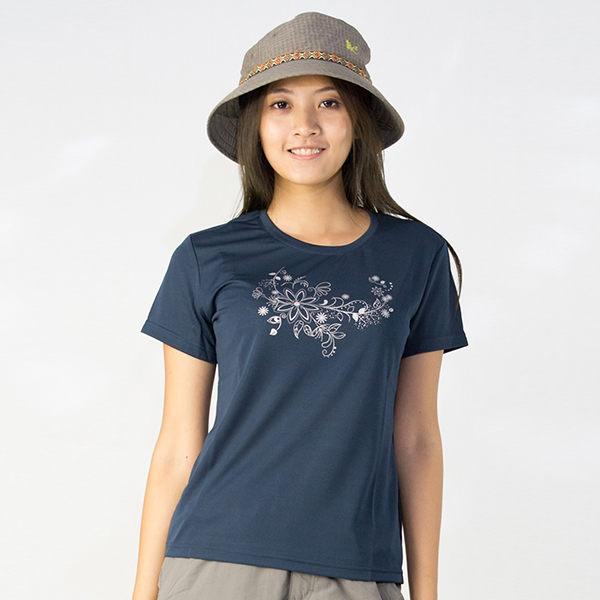 【桃源戶外】Litume─P9066女排汗圓領T恤『深藍』