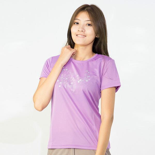 【桃源戶外】Litume─P9066女排汗圓領T恤『粉紫』