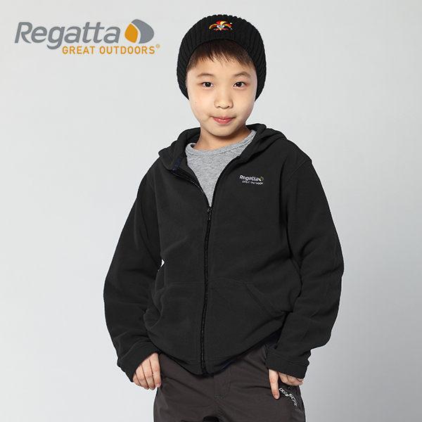 【桃源戶外】Regatta 童 刷毛│連帽│保暖外套 RKA018 『黑/灰』