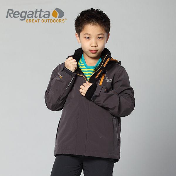 【桃源戶外】Regatta 童 防風│防水│刷毛│兩件式雪衣 RKP041『鐵灰』
