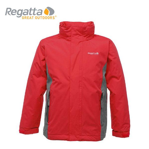 【桃源戶外】Regatta 童 防風│防水│纖維│兩件式雪衣 RKP065『紅/鐵灰』