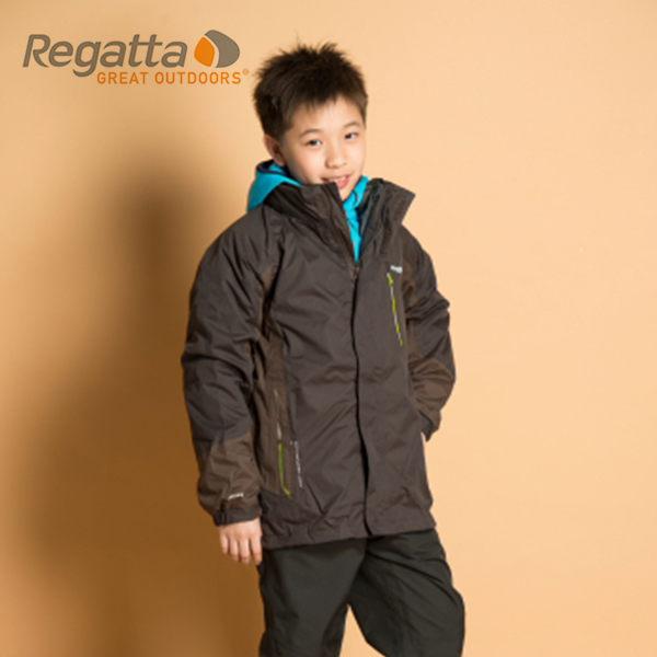 【桃源戶外】Regatta 童 防風│防水│纖維│兩件式雪衣 RKP074『泥灰/水瀨棕』