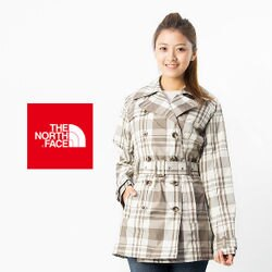 【桃源戶外】THE NORTH FACE HV 防水風衣外套 ─A3GUCQ8灰咖啡格紋