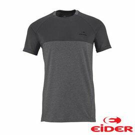 EiDER 排汗透氣抗UV抗菌短袖T恤 男 暗灰色 EIV2994