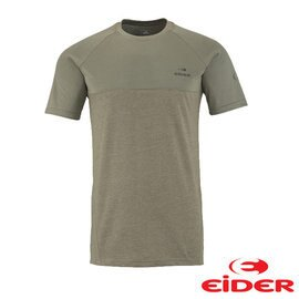 EiDER 排汗透氣抗UV抗菌短袖T恤 男 卡其綠 EIV2994