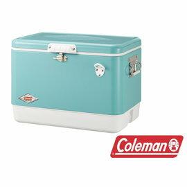 桃源戶外《60周年限定款》Coleman美國藍經典鋼甲冰箱51LCM-03739M
