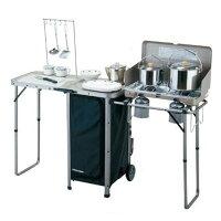 新手露營用品推薦到日本SOUTH FIELD 意匠行動廚桌 7310013503 (原台中秀山莊)