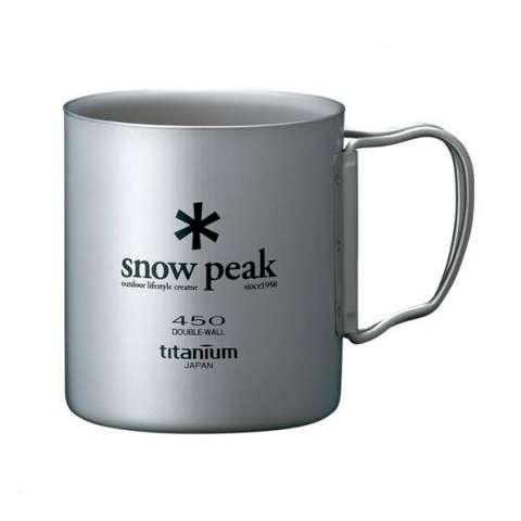Snow peak 日本雪峰 MG-053R 鈦合金雙層馬克杯 450ml 無附袋