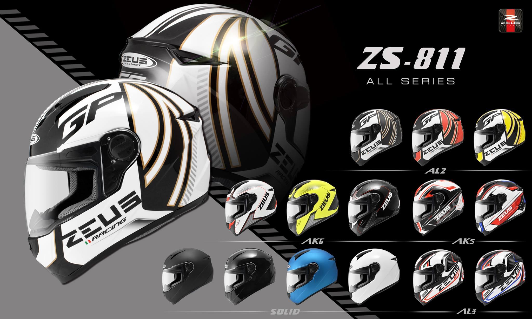 ~任我行騎士部品~瑞獅 ZEUS ZS-811AL5 黑紅 全罩式安全帽 ZS 811