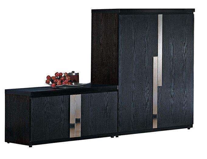 ~尚品 ~JF~277~1 艾克2.7尺黑色座鞋櫃