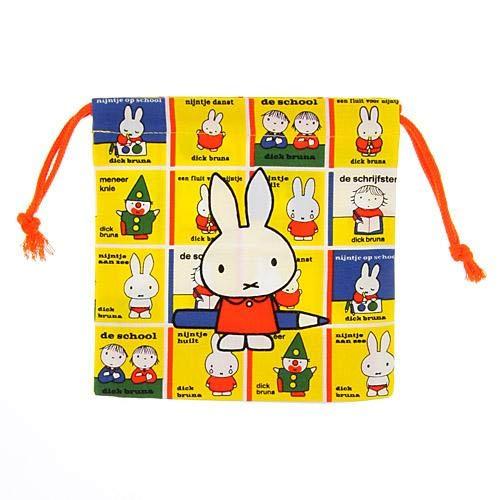 Miffy 米菲兔 雙面 束口袋 日本製正版商品 100%綿
