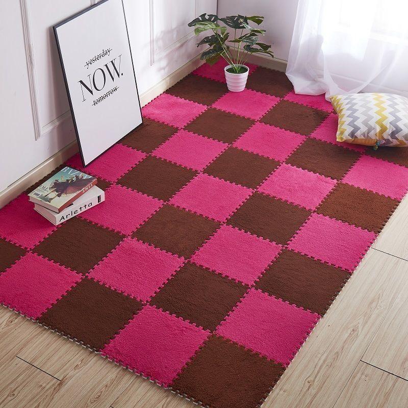 拼接地毯耐臟床邊滿鋪大面積泡沫地墊飄窗爬行墊