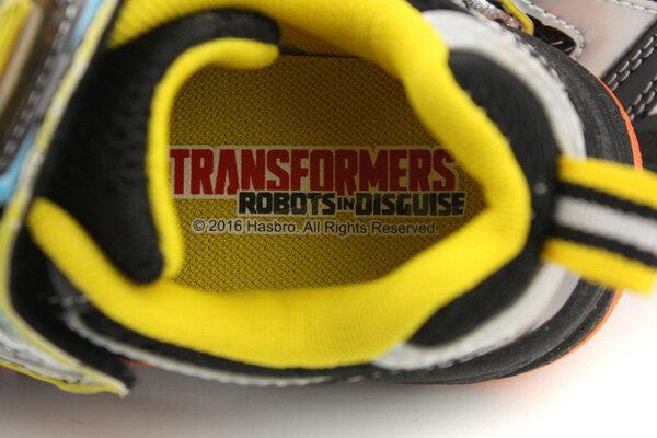 變形金鋼 TRANSFORMERS  運動鞋 球鞋 魔鬼氈 舒適 黃色 黑色 中童 童鞋 TF5169 no698 5