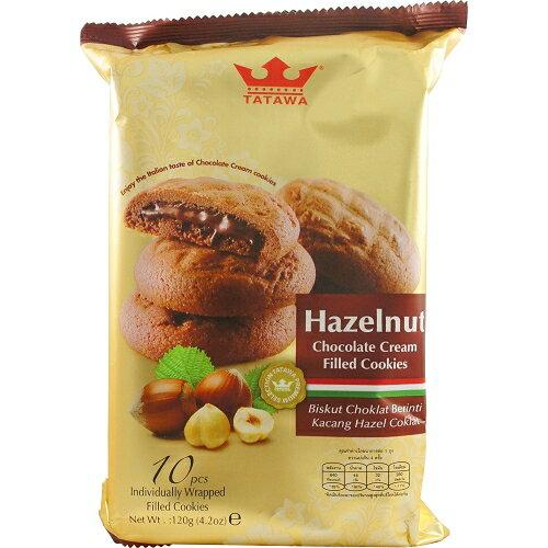 TATAWA榛果巧克力熔岩餅12g*10入【愛買】