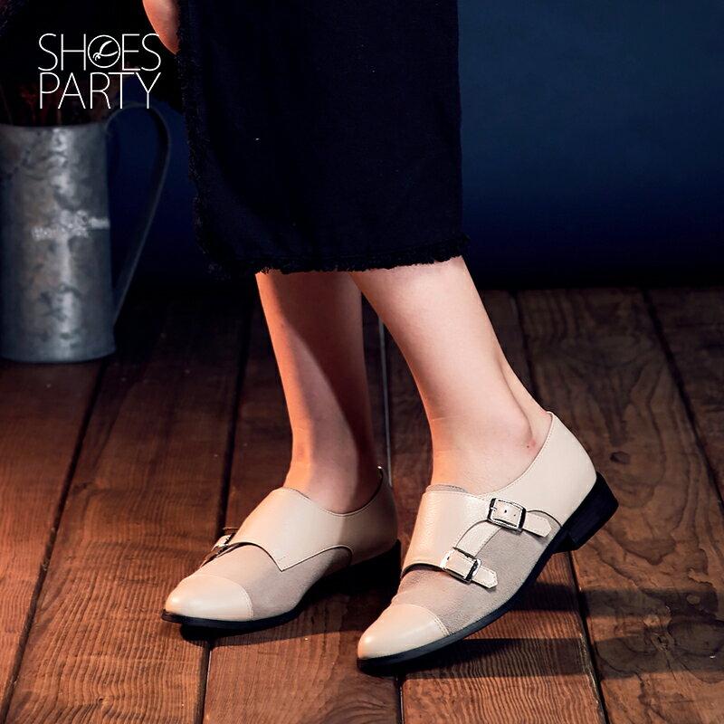 【P2-16712L】個性拼接孟克鞋_Shoes Party 3