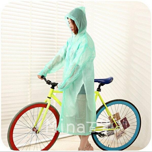 (mina百貨) 加厚成人雨衣 透明雨衣 連身雨衣 環保 戶外 徒步 旅遊 防雨 防水 F0094