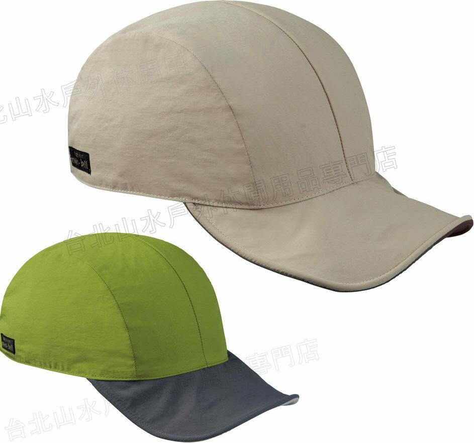 Mont-Bell 雙面棒球帽/鴨舌帽 可捲折 1108829 LTKH 淺卡其/淺綠雙面 M/L