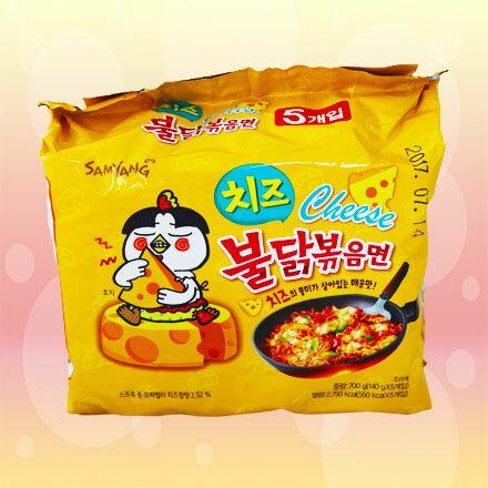 [敵富朗超市]三養辣炒起司雞肉鐵板麵(140gx5入) 0