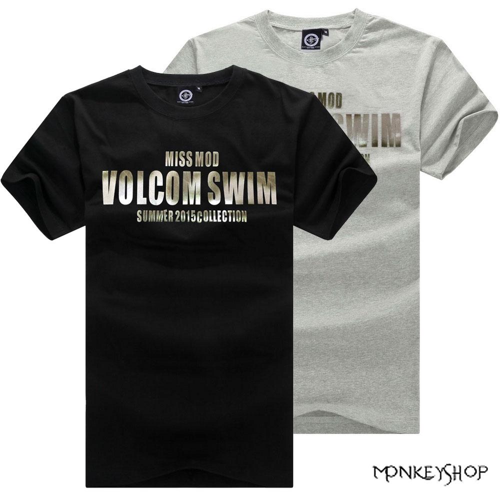 ~BSG5201~MIT簡約韓式VOLCOM字母印花短袖T恤~2色~Monkey Shop