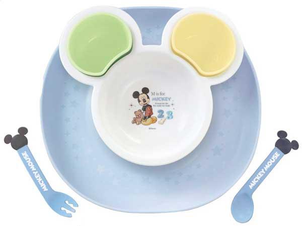 日本 迪士尼 Disney 米奇可愛造型兒童餐具/多功能餐盤組 (豪華組)★衛立兒生活館★