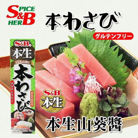 日本 S&B 本生 山葵醬 43g 山葵 哇沙米 沾醬 調味醬 壽司 生魚片 日式料理【N103963】