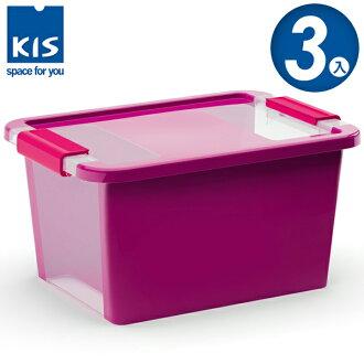 E&J【012012-04】義大利 KIS BI BOX 單開收納箱 S 紫色 3入;收納盒/整理箱/收納櫃/無印風