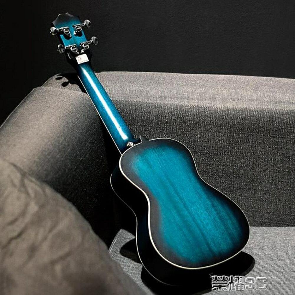 尤克麗麗 安德魯桃花心23寸藍色ukulele尤克里里小吉他學生初學烏克麗麗 JD  榮耀3c 1