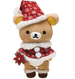X射線【C649773】懶熊Rilakkuma聖誕限定公仔,玩偶娃娃擺飾絨毛填充玩偶玩具公仔椅子抱枕靠枕