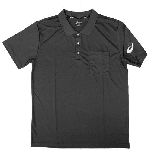 【領券最高折$430】ASICS 亞瑟士 男 短袖 運動POLO衫 胸前口袋設計 - K31707-90 黑【陽光樂活】