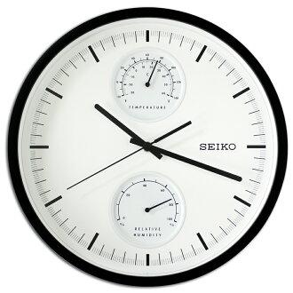 SEIKO 日本精工QXA525K 滑動式秒針溫度/濕度顯示掛鐘