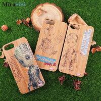 漫威英雄Marvel 周邊商品推薦MARVEL星際異攻隊2 iPhone 7 Plus(5.5吋)炭竹木紋雷彩繪雕雙料殼