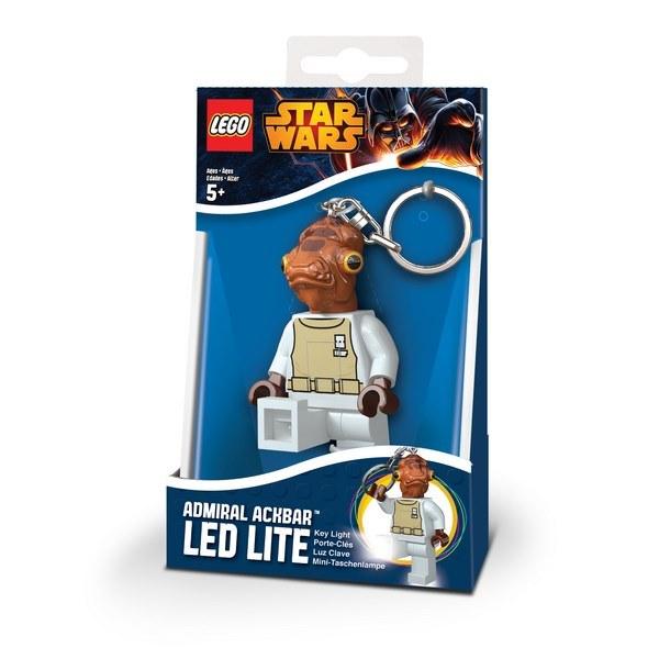 《 樂高積木 LEGO 》星際大戰 STAR WARS LED 燈鑰匙圈 -阿克巴上將