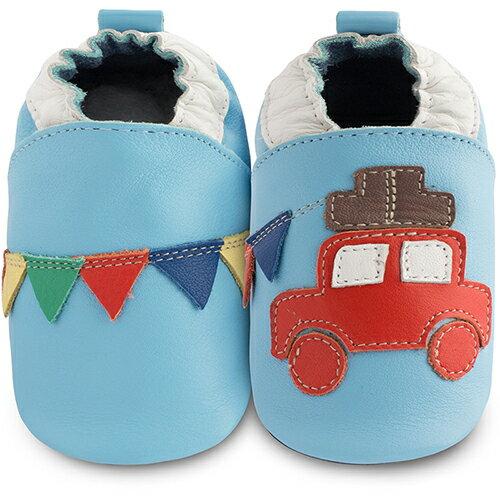 【hella 媽咪寶貝】英國 shooshoos 安全無毒真皮手工鞋/學步鞋/嬰兒鞋 車子去旅行 BBPAB22C (公司貨)
