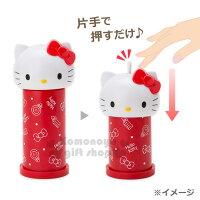 凱蒂貓週邊商品推薦到〔小禮堂〕Hello Kitty 造型按壓式棉花棒罐《紅.大臉》自動彈出棉花棒