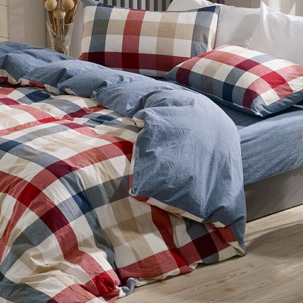 兩用被套雙人鋪棉被套色織水洗棉英格蘭[鴻宇]台灣製2115