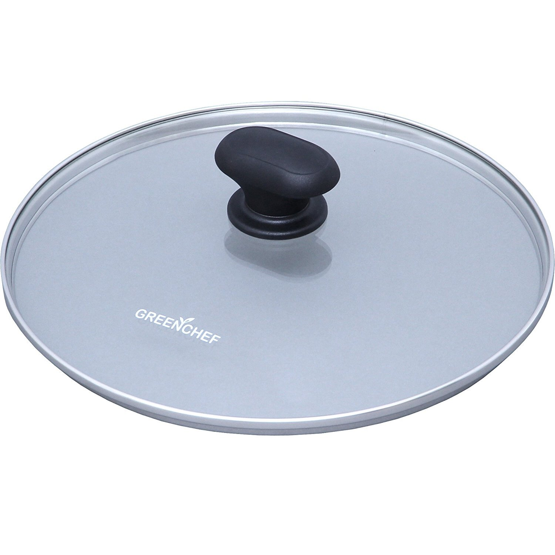 日本IRIS OHYAMA/GREEN CHEF 24公分 專用鍋蓋 鑽石塗層陶瓷鍋 瓦斯爐、IH對應 煎鍋 平底鍋