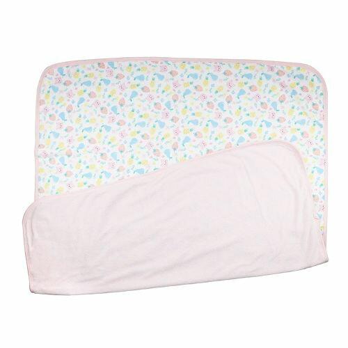 小小家 BabyTalk 新生兒雙面大浴巾單入-繽紛水果貓★愛兒麗婦幼用品★