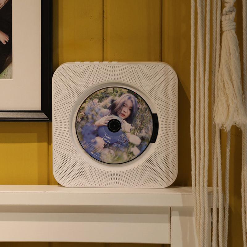 CD機 ins風CD機壁掛播放器藍芽胎教音箱英語學習復讀機CD播放器帶收音